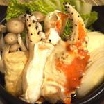 神戸ビーフ食品直営店 鉄板焼 銀座888 - たらば蟹の小鍋仕立て