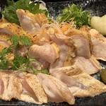 きわ美鶏 恵比寿 - たたき三種盛り