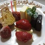 カフェ・ド・クレプスキュール - コース料理の日替わり「お誕生日デザートプレート」要予約(プラス料金)