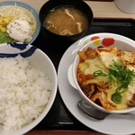 松屋 - チーズタッカルビ定食 ポテトサラダセット