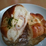 わたなべパン - ちくわパン・のりチーズ(210円) 断面