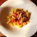 スパニッシュイタリアン Azzurro520 ‐canale de terrazza‐  - パスタセット(1,280円) メインは蟹の塩味のショートパスタ。 (正式名は忘れてしまいました…)