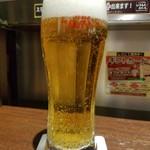 いきなりステーキ 神谷町店 - 生ビール(500円外税)