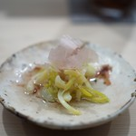 日本橋蛎殻町 すぎた - あさつき新芽