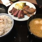 森商店 - 牛たんカルビ定食
