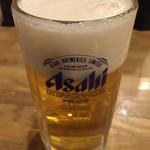 佳名℃ - 晩酌セット¥1058の生ビール