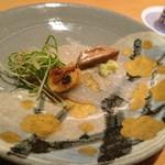 鮨 あずま - カワハギは肝が二種類の料理法で出てくるのだ!