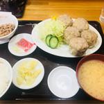 大吉飯店 - 焼売定食の御飯少な目(650円)