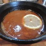 五ノ神水産 - オマール海老トマトつけ麺のつけ汁