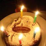 ビュベール オルジュ - 移転OPEN日ということもありバースデーケーキをサービスでグレードUPしてくれました!