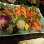 うな富士 - 海老の五種盛り