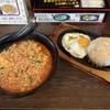 ぼっけもん - 料理写真:にんにくラーメン大盛5辛+鉄板飯