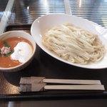 80513095 - 小柱とカニのトマトクリームつけ麺¥930