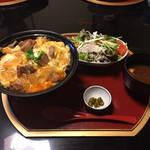 一鳳 - 極上親子丼のランチセット@1,500円