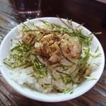 麺匠くり原 - チャーシューご飯100円(ランチ価格)