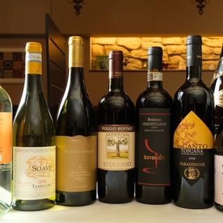 ソムリエ厳選のワインで最高のマリアージュをご提案◎
