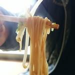 中華そば 八平 - 友だちの頼んだ細麺