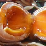 中華そば 八平 - 煮玉子は良い感じ