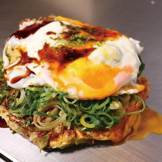 かしわのお好み焼きのスタンダード‼『鶏ミンチかしわ焼き』