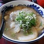 元祖糸島ラーメン 銅鑼 - 豚骨焼豚ラーメン