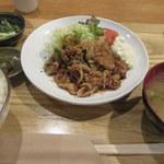 めん処譽紫 - 生姜焼き定食
