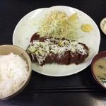 とんかつ 大淀亭 - 料理写真:ネギみそロース定食