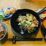 シロクマ食堂 - ランチ 冬野菜のチヂミ 1100円