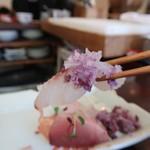 あそび割烹 さん葉か - 五島列島刺身盛り合わせ480円