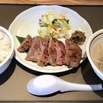 80532108 - 牛タン定食(6枚、麦飯、テールスープ、漬物、南蛮味噌)1200円→980円