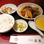 Chuugokuryourihakuhou - 豚肩ロースト中国野菜のカキ油いため