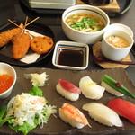 ゆず庵 - にぎり寿司三昧と串揚げ膳