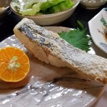季節料理 大路 - メインの一品「鱈の塩焼き」