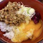 80542036 - 朝・納豆セット(温蕎麦)