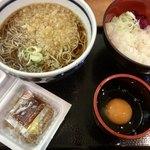 80542042 - 朝・納豆セット(温蕎麦)