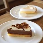 イイジマ コーヒー - チョコムースタルトは今月のケーキ