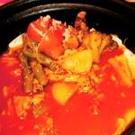 ミルクティー - トマト鍋