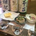 戸隠 - 料理写真:日本酒3種飲み比べは平日限定SAKE FLIGHT