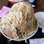 麺屋 夢幻 - 味噌 麺300g 野菜増し増し 脂増し カラメ(味濃いめ)