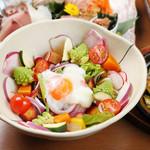 産直海鮮で宴会 すきずき - 三浦地野菜サラダ