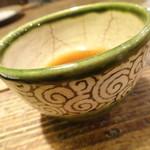 山芋の多い料理店 - 〆のお茶(のみかけで量少なくなってます)