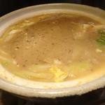 山芋の多い料理店 - 鶏つくね味噌チーズ鍋