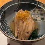 日本のお料理 稲垣 - 海老芋と穴子の鞍掛
