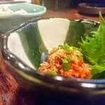 80559627 - 鶴嘴のチャンジャ!やっぱり、キムチとチャンジャは鶴橋が美味し……\(^^)/