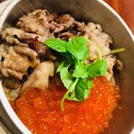 80560520 - 牛肉とイクラの釜飯