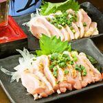 居酒屋よっちゃん - 大山鶏のムネたたき/モモたたき