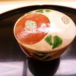 味 ふくしま - 寒椿の可愛い器