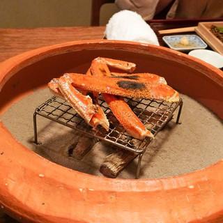 松川 - 料理写真:間人蟹焼き蟹