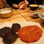 80569236 - チヂミ 2品チョイス (しいたけの肉詰め・キムチ) 620¥