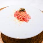 エクアトゥール - 料理写真:和牛のザブトンとお米のピューレ