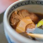 久下屋脩兵衛 - 鴨汁(かもじる)の笋(たけのこ)